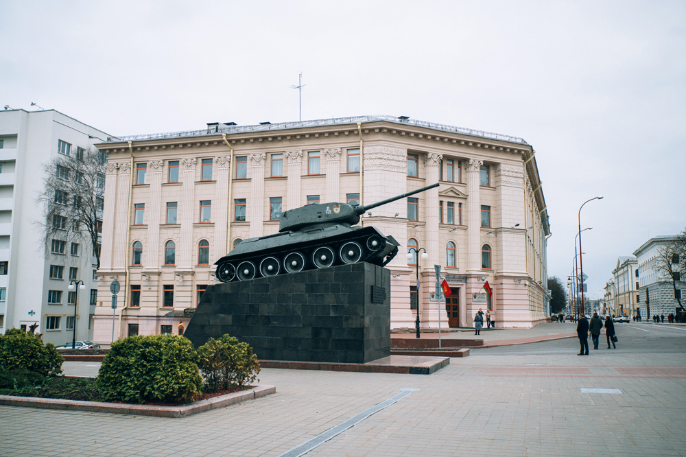 tank monument in minsk