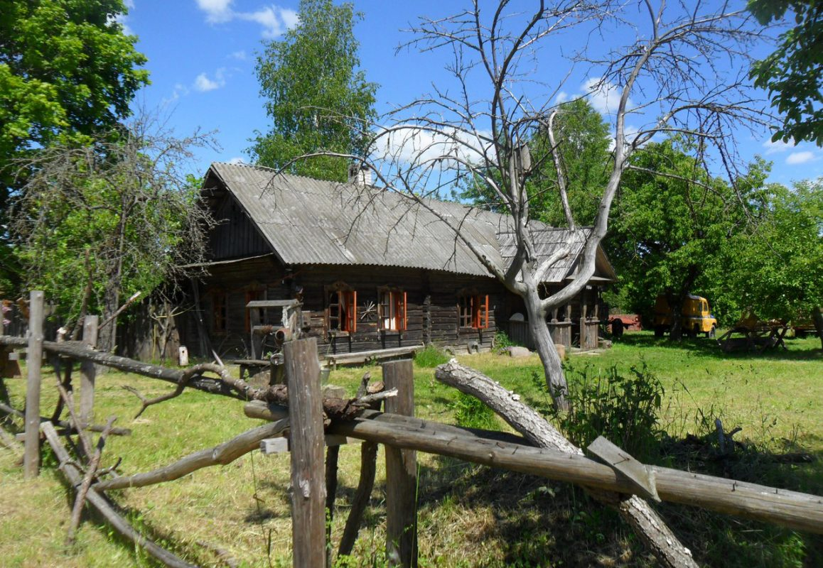belarusian summer country house called dacha