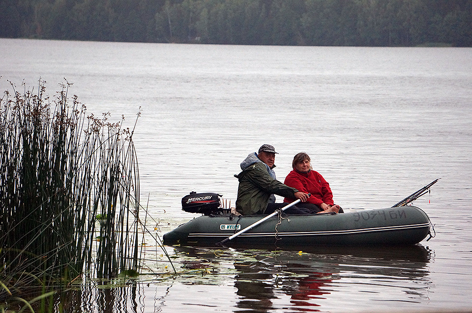 two people fishing at the Chigirinsky Reservoir