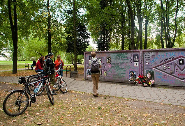 the Viktor Tsoi wall in Minsk