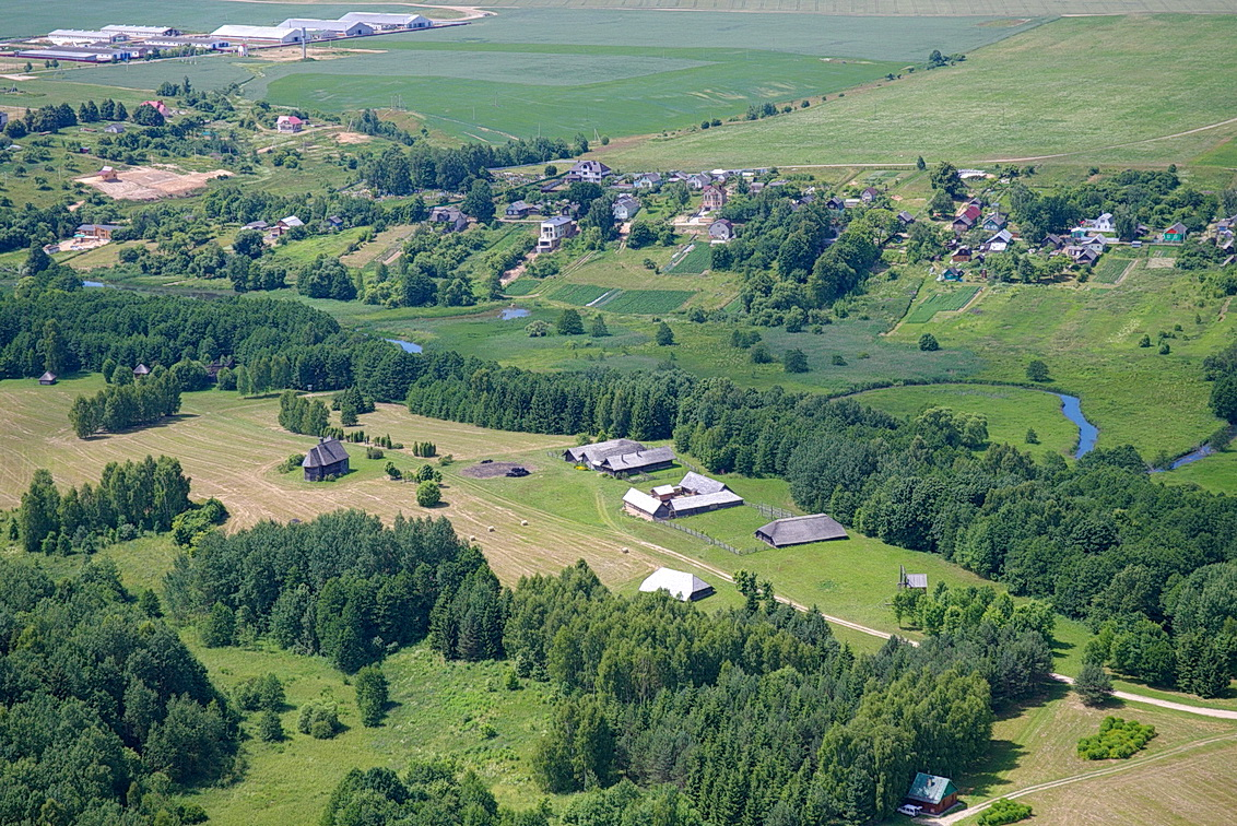 Aziarco village from the air