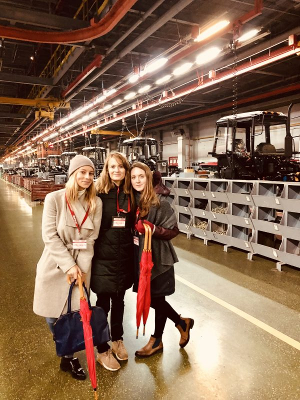 tourists at minsk tractor works